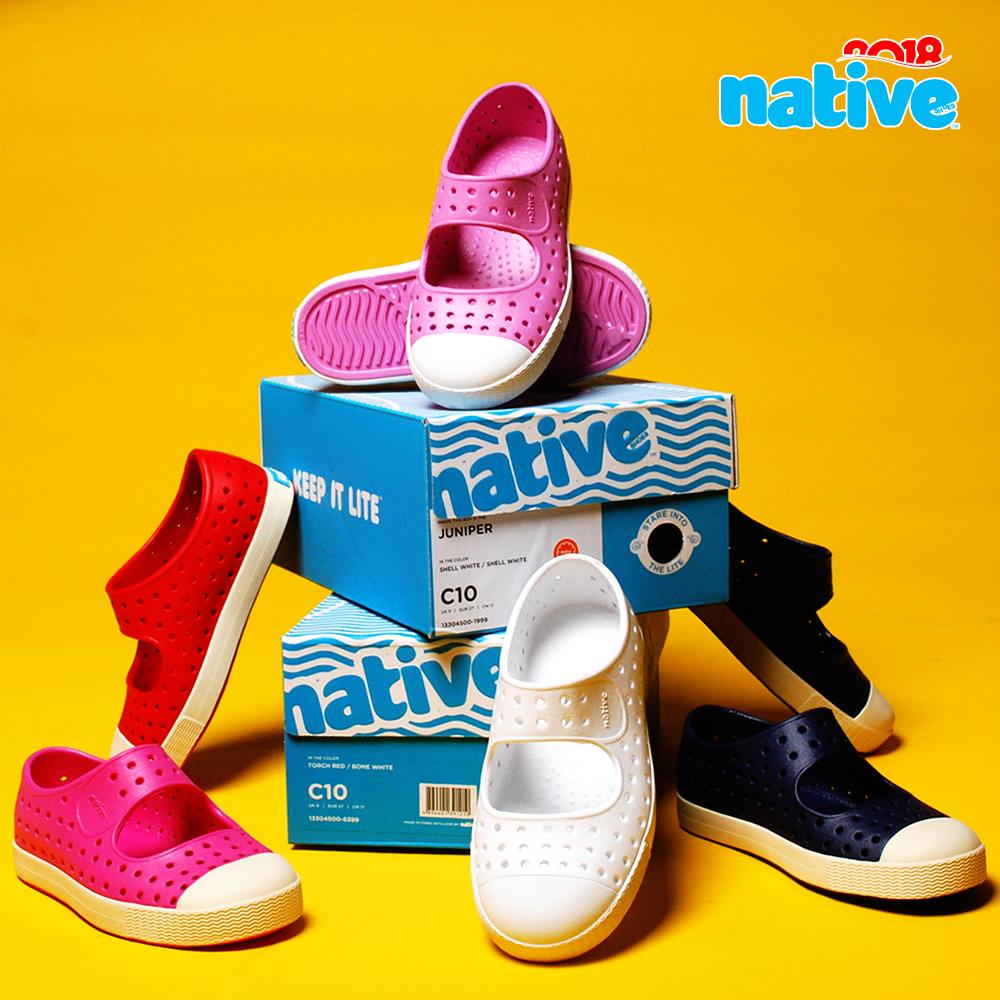 Native Shoes Juniper 超轻正品洞洞鞋女童鞋 夏儿童宝宝沙滩凉鞋