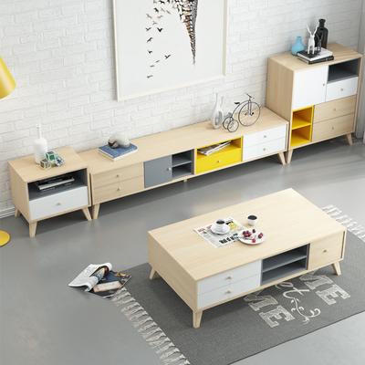 北欧客厅电视柜茶几组合简约现代套装家具小户型卧室电视机柜地柜