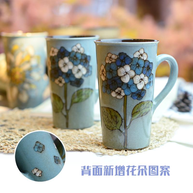 大容量复古早餐杯陶瓷水杯创意简约咖啡杯个性家用情侣潮流马克杯