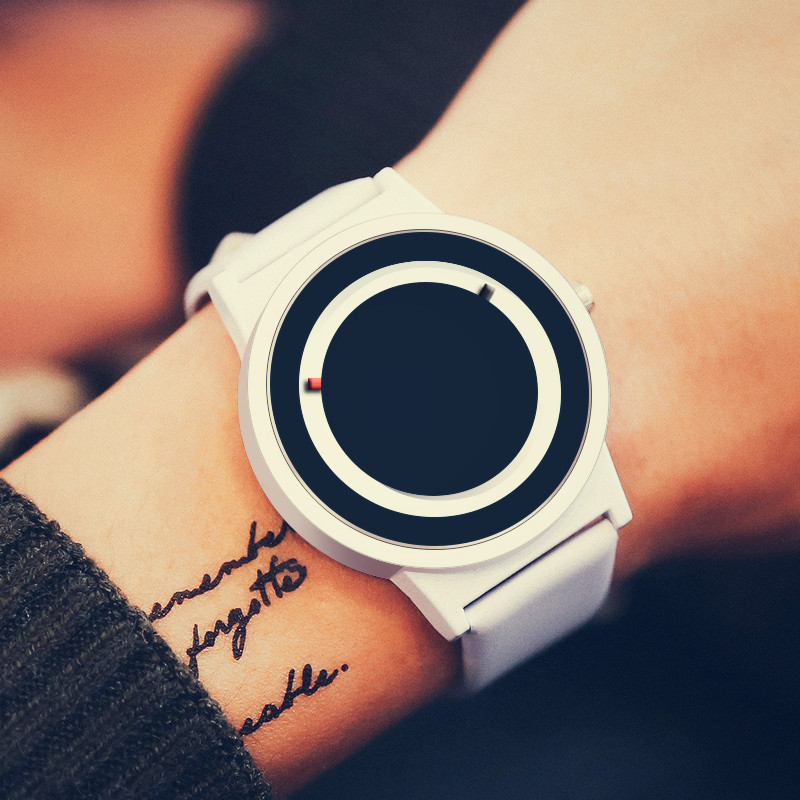 Solar eclipse cool simple fashion men and women quartz creative pointer free concept watch students waterproof personalized Watch