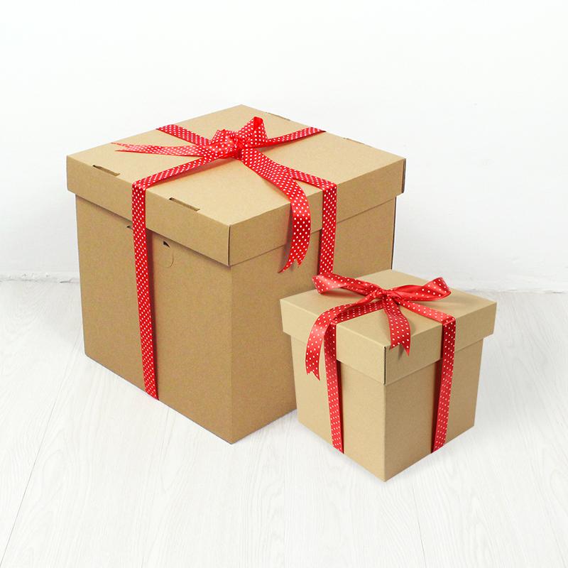 抖音同款丝带生日正方形箱子礼物盒12-02新券