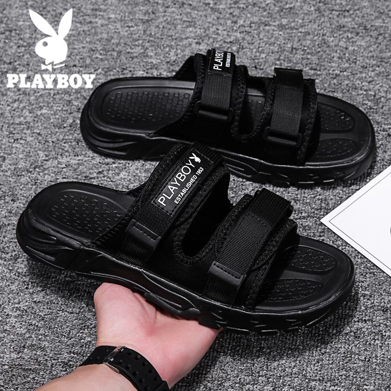 Playboy flip flops for men in summer