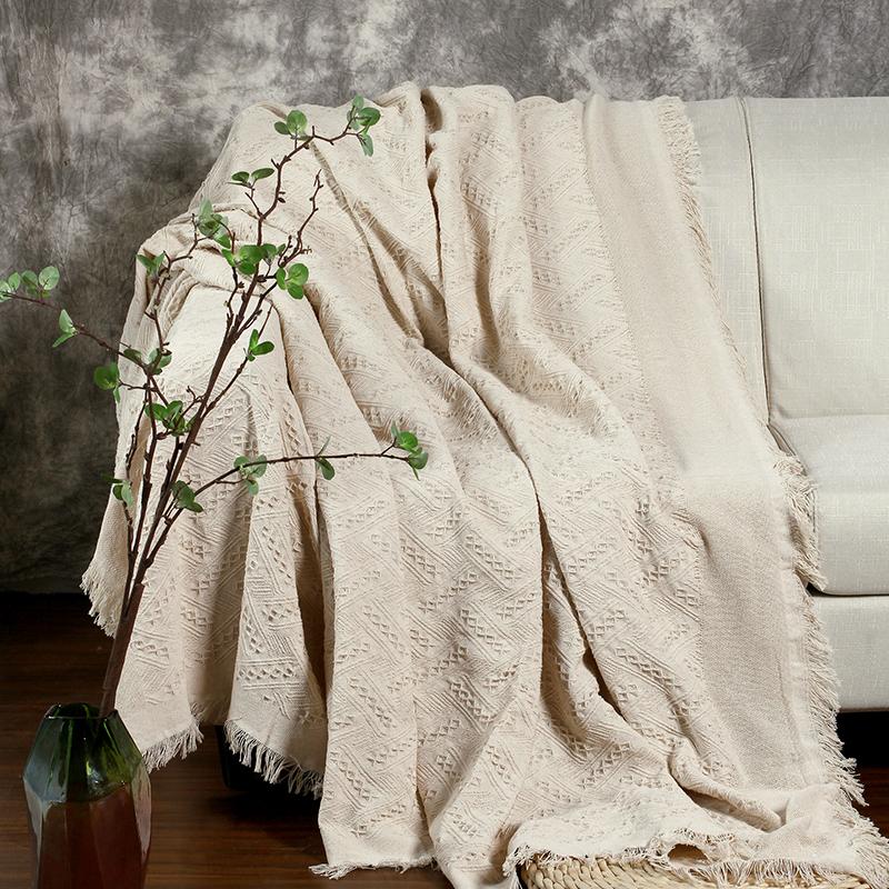 Характеристика нордический бежевый твердый хлопок вязание скольжение диван полотенце диван ткань гостиная сочетание диван крышка полное покрытие