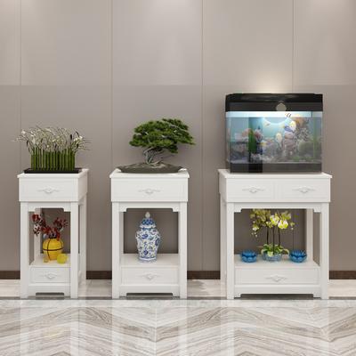 现代简约鱼缸底架花架子室内客厅阳台落地实木鱼缸底座底柜置物架
