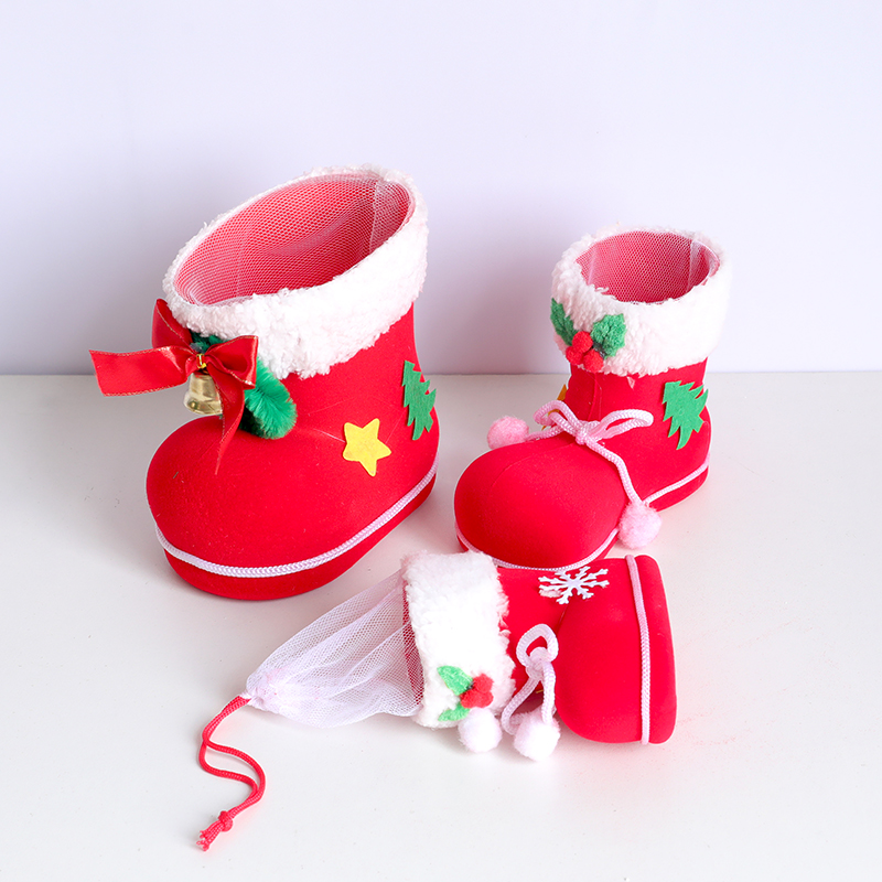 Christmas Candy Bag Christmas decoration creative Christmas Eve gift candy shoes boots gift box gift