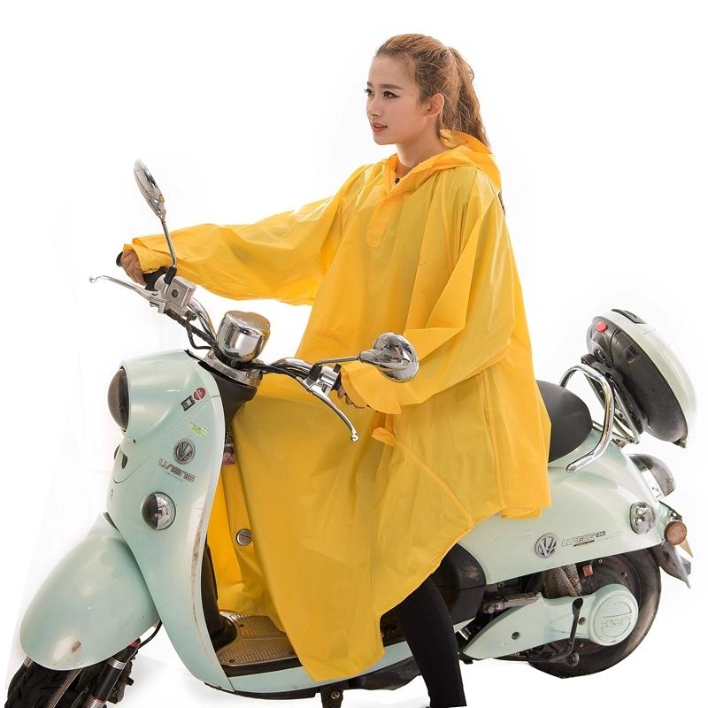 包邮天堂雨衣时尚带袖型大帽沿加厚成人单人自行车电动车骑行雨披