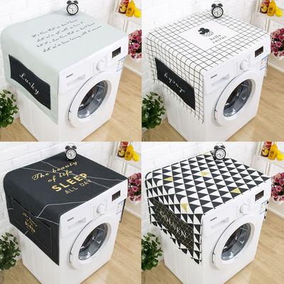 北欧大理石现代简约冰箱罩防尘防晒滚筒洗衣机盖布防水床头柜盖巾
