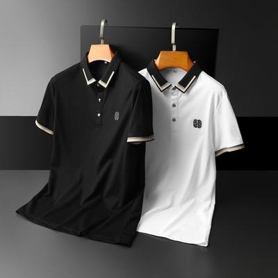 2021夏季新款男士短袖POLO衫简约百搭体恤衫9002 P73平铺