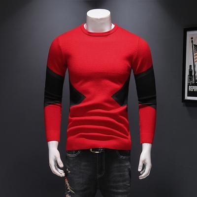 秋冬新款 男士羊毛衫针织毛衣 8816 P95 红色