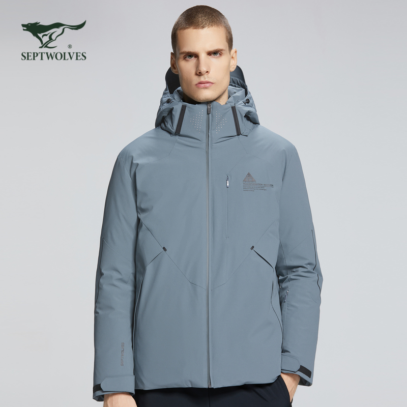 Official flagship store wolf mens down jacket medium length mens coat thickening warm sports clothes coupon