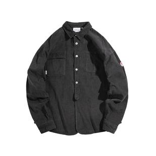 BDCT原創 燈芯絨工裝襯衫男長袖 2020秋季新款日系寬鬆襯衣外套潮