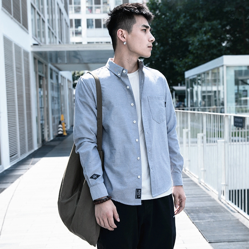 BDCT японский прилив бренд рубашка мужчина с длинными рукавами осень порт ветер молодежь небольшой свежий свободный случайный тонкая модель рубашка