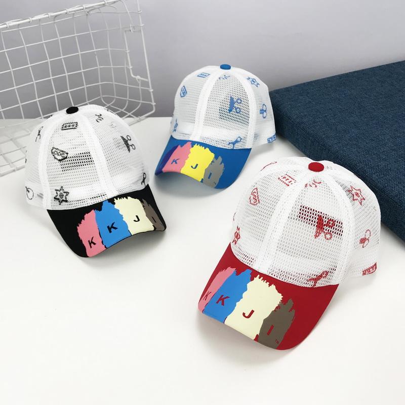 夏天儿童网帽男童棒球帽女童遮阳太阳帽子凉帽全网眼帽小童鸭舌帽