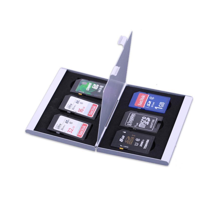 背包客铝合金相机收纳整理包SD卡TF旅行多功能CF内存存储卡盒包邮