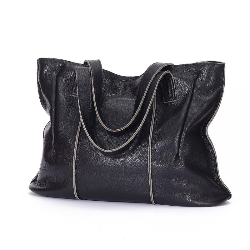 真皮女包2019新款欧美时尚手提托特包女士包handbags women