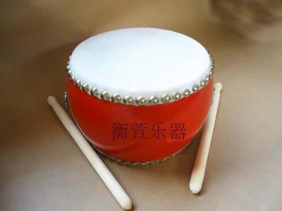 Free shipping Orff children's percussion instrument 6-inch cowhide drum flat drum double-sided cowhide drum drum tambourine
