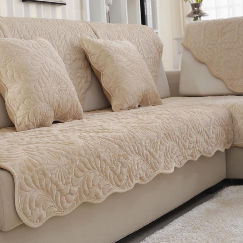 沙发垫四季通用布艺皮防滑坐垫子实木冬季毛绒全包万能套罩巾全盖