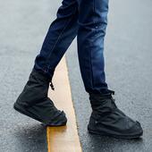 雨天防水鞋套 防滑加厚耐磨底防雨鞋套男女 下雨天雨鞋套脚套学生