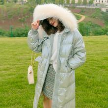 阿甘的女王高端精品自制貉子毛领大毛领中长款加厚保暖羽绒服女潮
