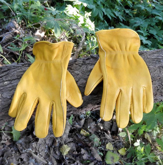 Bushcraft на открытом воздухе желтый глава эластичный пласт воловья кожа перчатки работа перчатки труд страхование перчатки локомотив перчатки