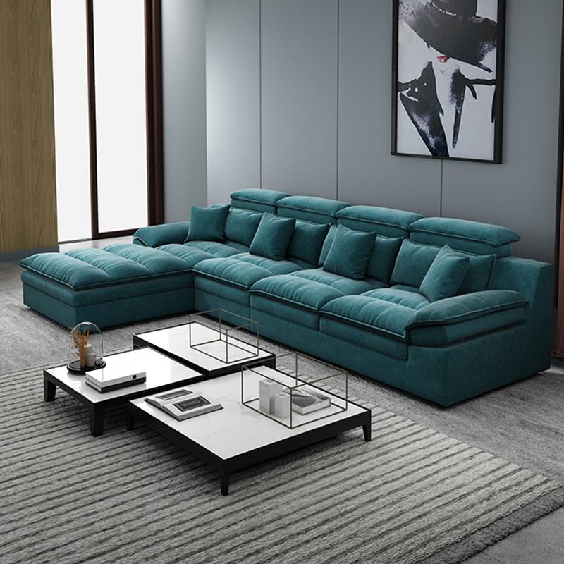 啊点 北欧客厅家具整装设计 防水科技绒面料乳胶布艺沙发组合 175