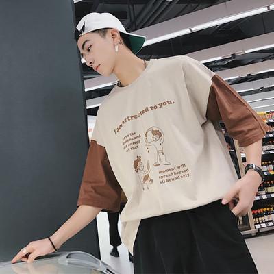 2018夏季新款印花宽松短袖T恤A308 T73 P45 限价58