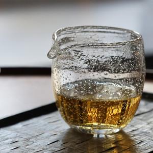 领10元券购买喜水 日本玻璃职人款耐热玻璃气泡公杯匀杯片口琉璃硝子今井美智