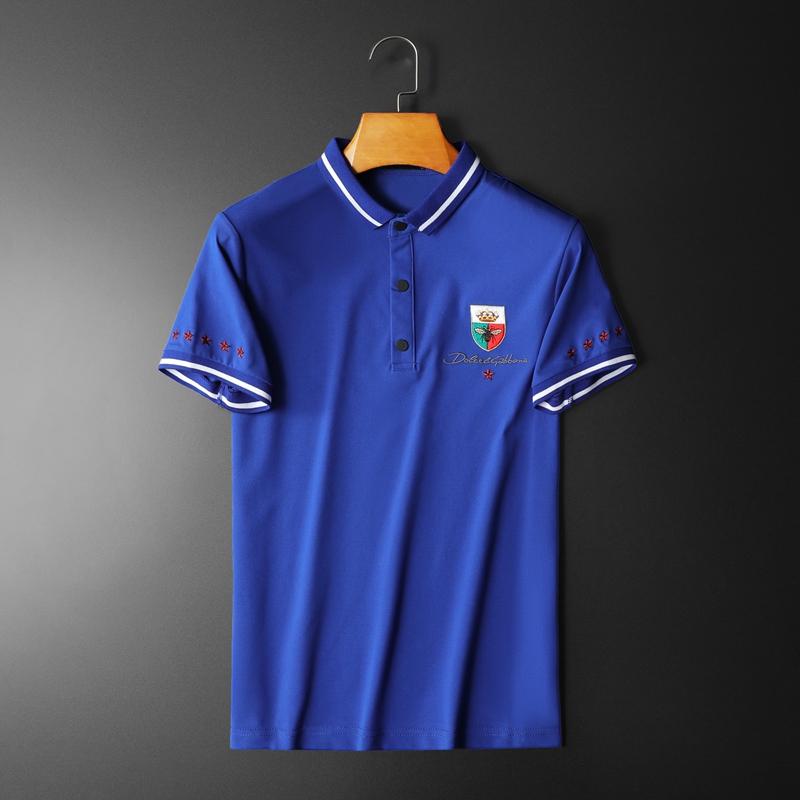 2020年新款短袖POLO衫 钱塘3019 7721 P65 平铺蓝色