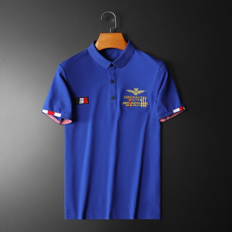 2020年新款短袖POLO衫 钱塘3019 7716 P65 平铺蓝色