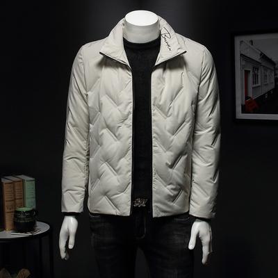 2019年男士冬季高品质羽绒服 QT3019 B750 P155 假模 杏色 有大货