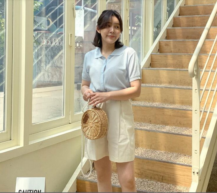 July candygraw South Korea buy simple basic short sleeve solid color micro transparent thin knitwear (0714)