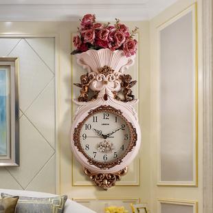 欧式挂钟客厅豪华大气时尚装饰家用个性创意静音石英钟轻奢时钟表