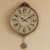 钟表挂钟客厅美式 创意时尚 简约大气家用北欧静音挂墙时钟 欧式 个性