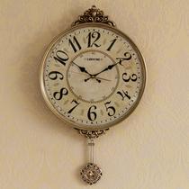 钟表挂钟客厅美式个性创意时尚欧式简约大气家用北欧静音挂墙时钟