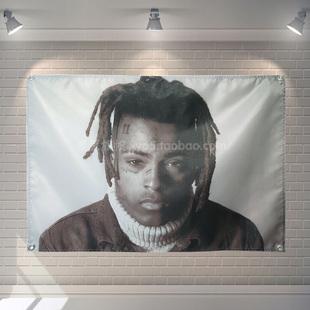 可定製嘻哈饒舌xxxtentacion潮流背景牆掛布酒吧牆面裝飾掛旗