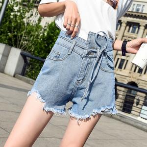 牛仔短褲女2019夏新款韓版chic寬松顯瘦闊腿高腰a字泫雅同款熱褲