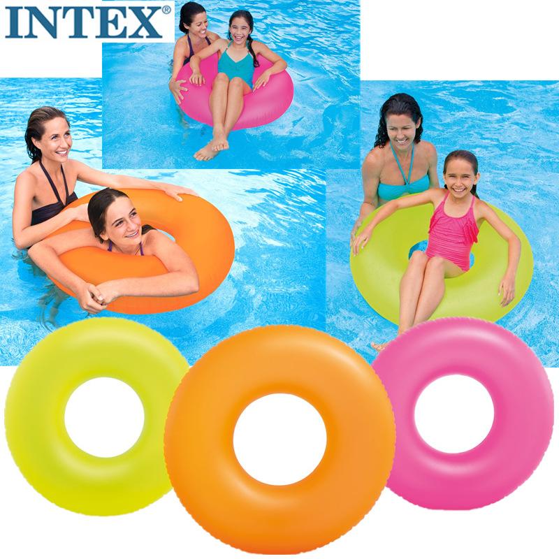 游泳圈INTEX59262成人男女充气救生圈加大儿童腋下圈坐圈大人泳圈(非品牌)