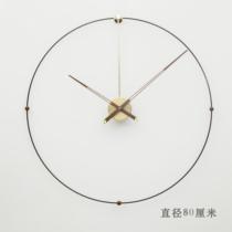 现代创意个性样板间客厅西班牙风格简约北欧美大指针石英钟挂钟表