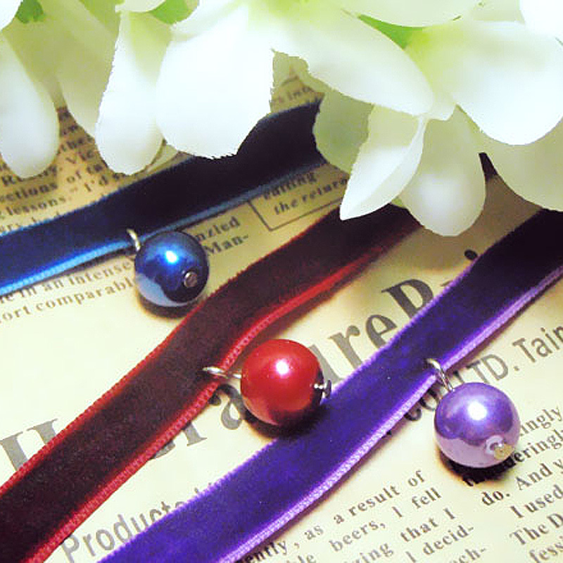 Simple and versatile Japanese and Korean style popular fashion student lover Pearl Necklace Choker careful machine accessories