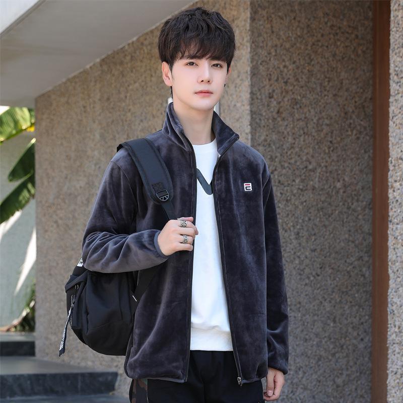 Korean imitation mink velvet Baseball Jacket extra large mens casual wear extra large spring and autumn fashion jacket 270 Jin 8xl