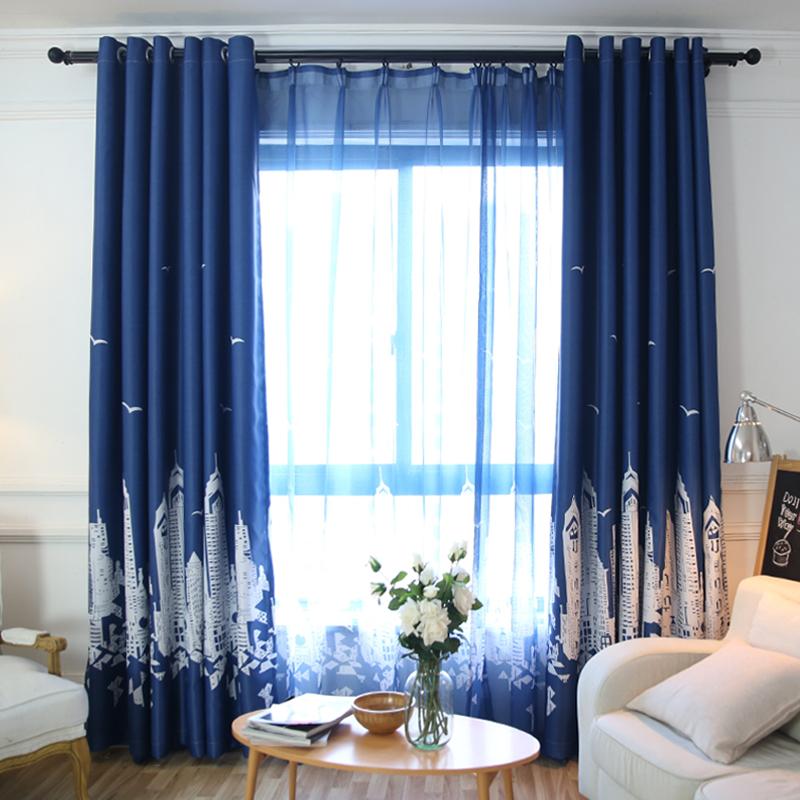 Небольшой занавес конечный продукт короткий занавес в тени занавес ткань простой современный спальня эркер гостиная этаж окно самолет вид из окна