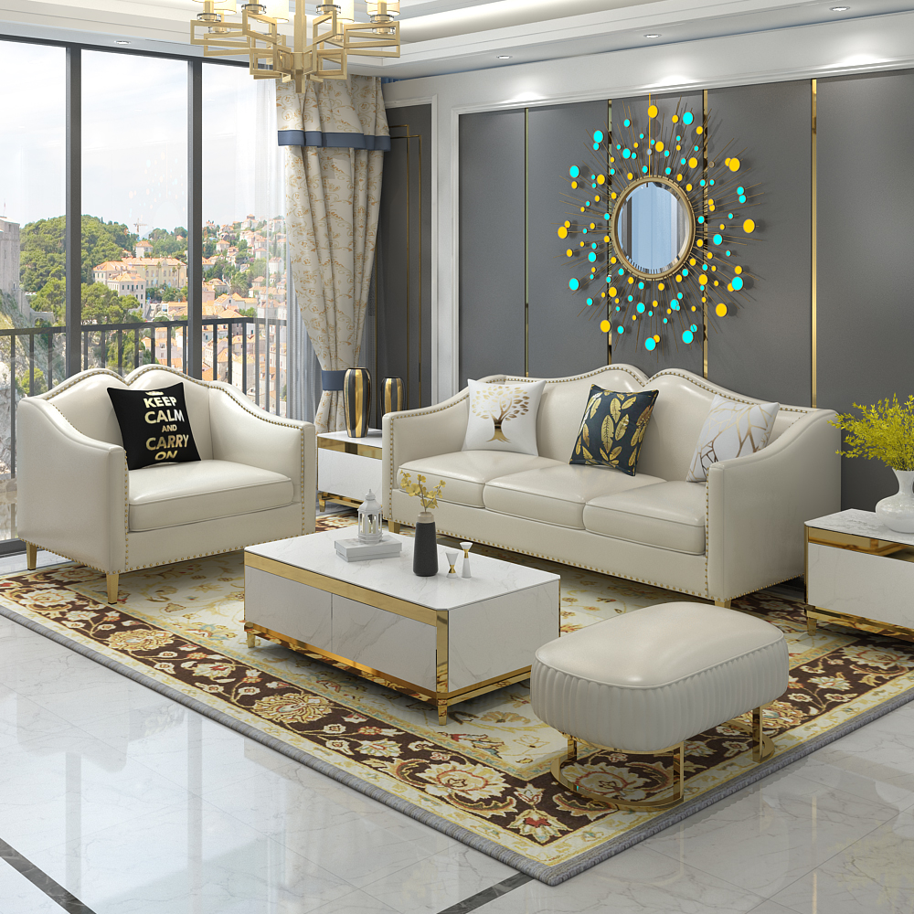 123 post modern leather sofa single three new leather latex furniture