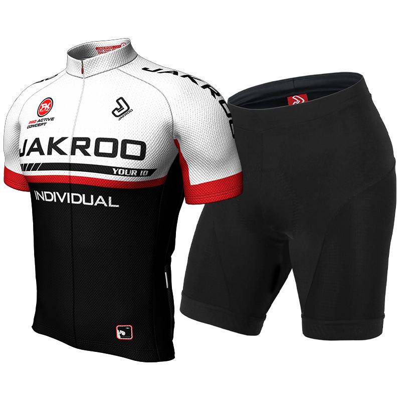 捷酷骑行服短袖套装男夏季 自行车骑行装备 定制骑行服 舒适透气