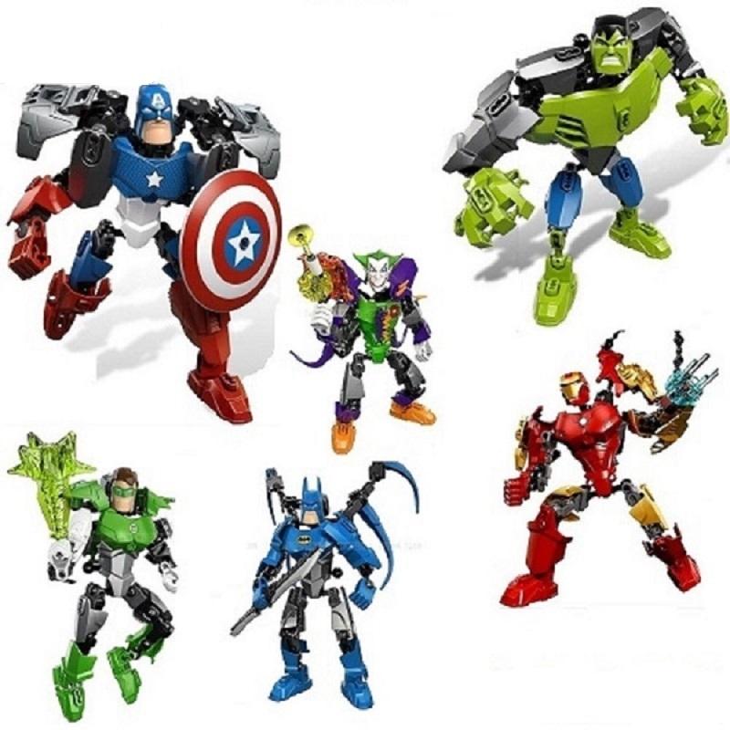 復讐者英雄連盟互換レゴロボット積木子供用おもちゃ3-6-10-12歳の男の子