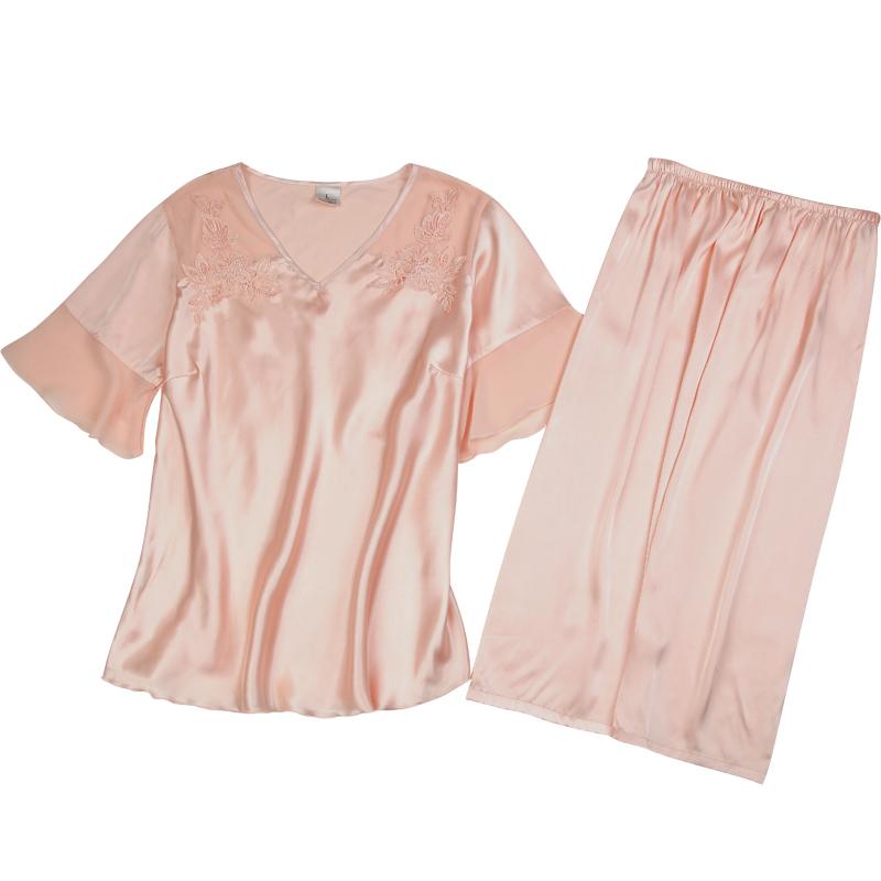 上海故事睡衣女夏季冰丝两件套套装