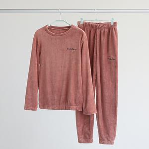 仙女暖暖裤套装珊瑚绒2019新款时尚加绒长袖休闲秋冬季运动两件套