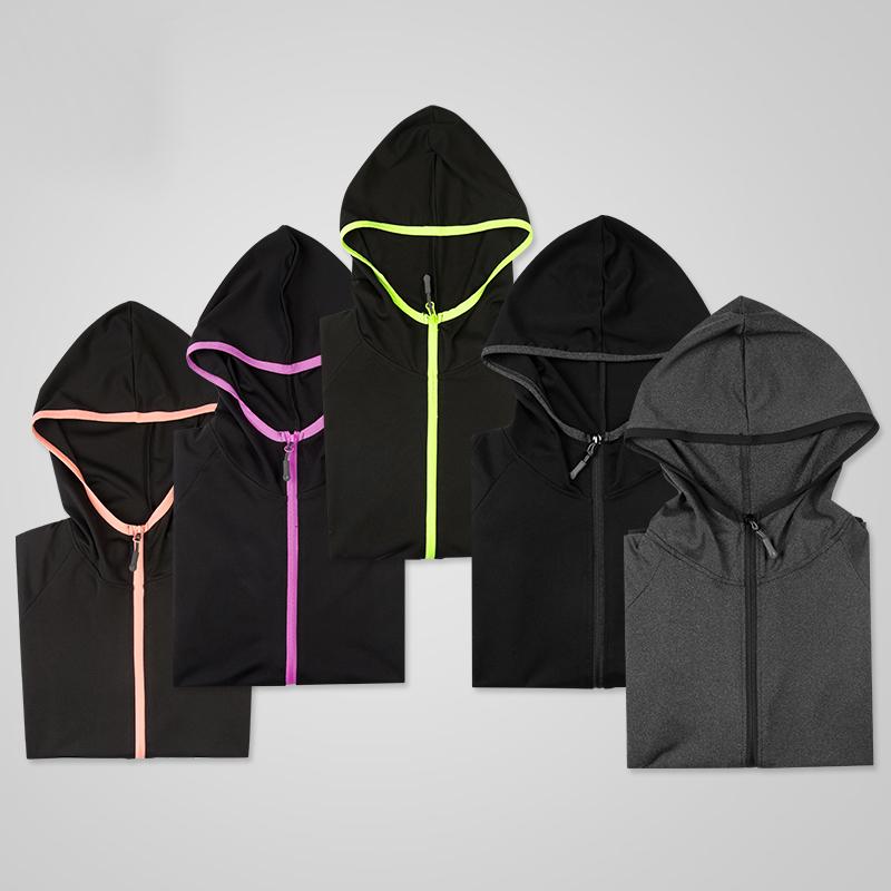 运动外套女潮牌夏季防风跑步健身运动女秋瑜伽外套室内修身上衣