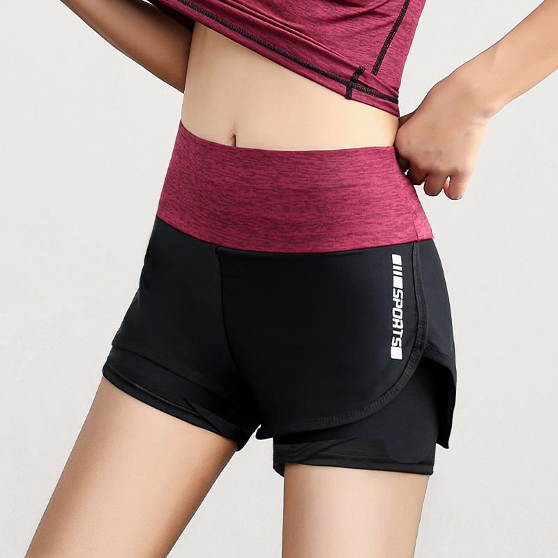 运动短裤女夏季薄款2020新款健身宽松跑步训练高腰瑜伽速干防走光