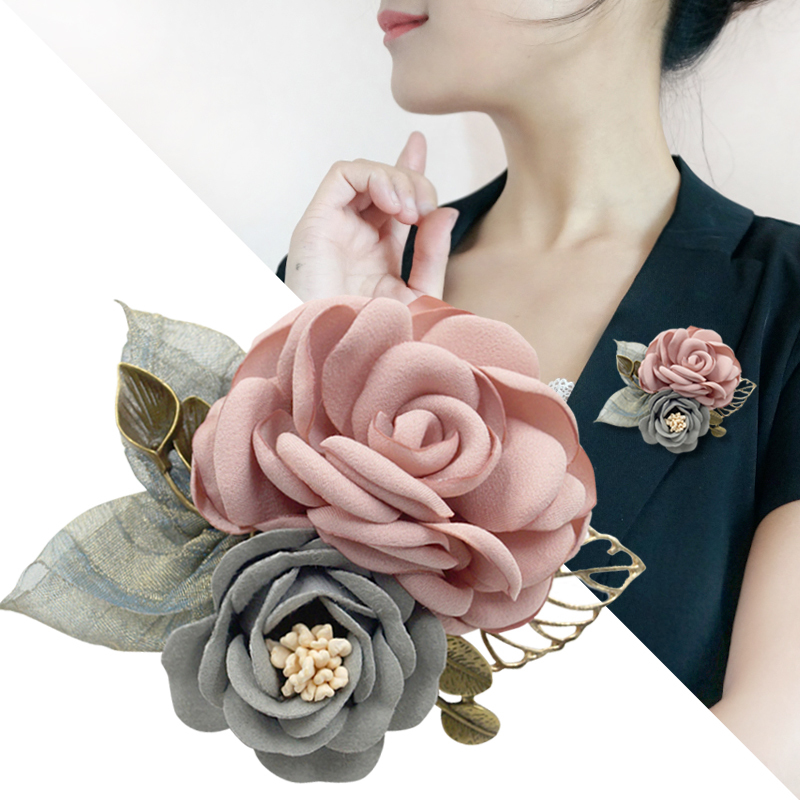 Korean Brooch fabric flower Japanese Fashion Brooch accessories aesthetic temperament pin decoration women