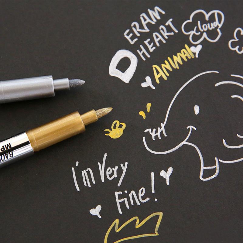 云木杂货 宝克金属色工艺笔油漆笔DIY贺卡涂鸦笔签到记号笔签字笔